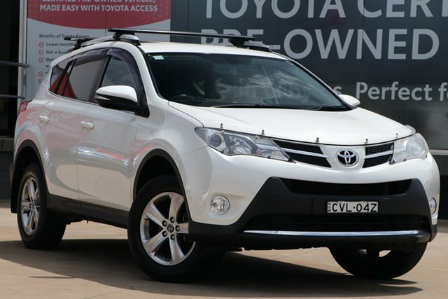 Used Toyota RAV4 ZSA42R MY14 Upgrade GXL (2WD), 2014 Toyota RAV4 ZSA42R MY14 Upgrade GXL (2WD) Crystal Pearl Continuous Variable Wagon
