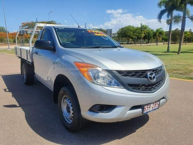 Used Mazda BT-50 UP0YD1 XT 4x2, 2014 Mazda BT-50 UP0YD1 XT 4x2 Silver 6 Speed Manual Cab Chassis
