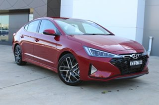 2019 Hyundai Elantra AD.2 MY20 Sport DCT Fiery Red 7 Speed Sports Automatic Dual Clutch Sedan.