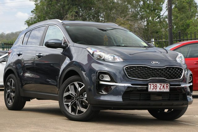 Used Kia Sportage QL MY20 SX+ 2WD, 2019 Kia Sportage QL MY20 SX+ 2WD Mercury Blue 6 Speed Sports Automatic Wagon