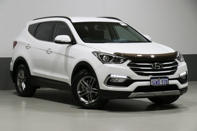 Used Hyundai Santa Fe DM SER II (DM3) Update Active CRDi (4x4), 2016 Hyundai Santa Fe DM SER II (DM3) Update Active CRDi (4x4) White 6 Speed Automatic Wagon