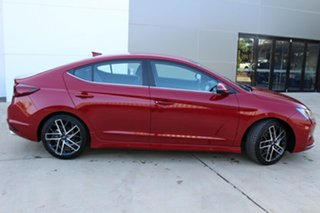 2019 Hyundai Elantra AD.2 MY20 Sport DCT Fiery Red 7 Speed Sports Automatic Dual Clutch Sedan