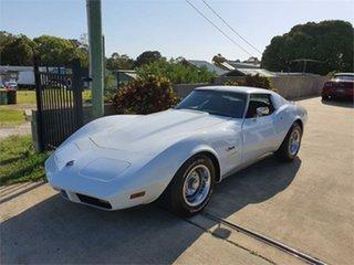 1974 Chevrolet Corvette C3 Stingray White 4 Speed Manual Coupe.