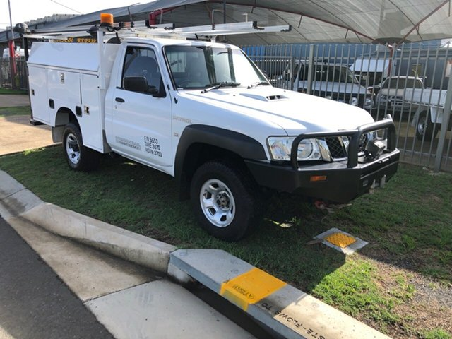 Used Nissan Patrol MY11 Upgrade DX (4x4), 2012 Nissan Patrol MY11 Upgrade DX (4x4) White 5 Speed Manual Leaf Cab Chassis