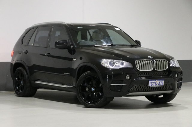 Used BMW X5 E70 MY12 Upgrade xDrive 40d Sport, 2012 BMW X5 E70 MY12 Upgrade xDrive 40d Sport Sapphire Black 8 Speed Automatic Sequential Wagon