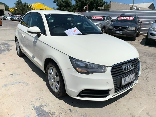 Used Audi A1 8X MY12 Attraction S Tronic, 2011 Audi A1 8X MY12 Attraction S Tronic White 7 Speed Sports Automatic Dual Clutch Hatchback