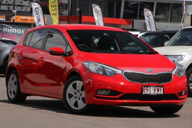 Used Kia Cerato YD MY15 S, 2015 Kia Cerato YD MY15 S Red 6 Speed Sports Automatic Hatchback