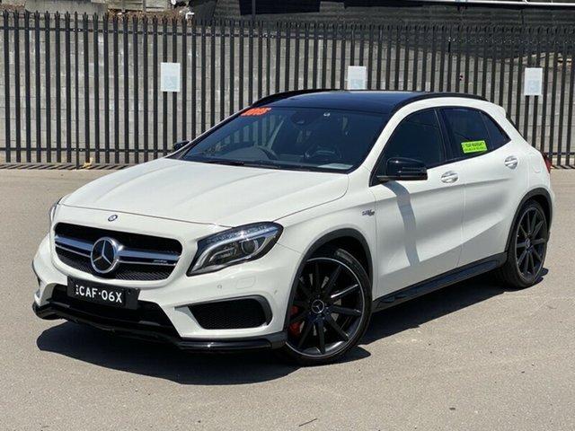 Used Mercedes-Benz GLA-Class X156 805+055MY GLA45 AMG SPEEDSHIFT DCT 4MATIC, 2015 Mercedes-Benz GLA-Class X156 805+055MY GLA45 AMG SPEEDSHIFT DCT 4MATIC White 7 Speed