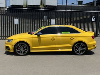 2016 Audi S3 8V MY17 S Tronic Quattro Yellow 7 Speed Sports Automatic Dual Clutch Sedan
