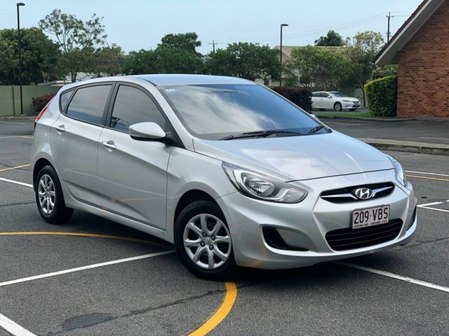 Used Hyundai Accent RB2 Active, 2014 Hyundai Accent RB2 Active Silver 4 Speed Sports Automatic Hatchback
