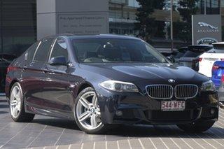 2011 BMW 5 Series F10 MY0911 520d Steptronic Black 8 Speed Sports Automatic Sedan.