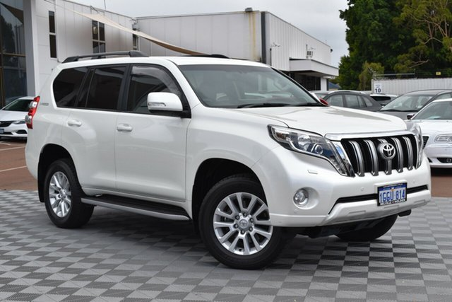 Used Toyota Landcruiser Prado GDJ150R VX, 2017 Toyota Landcruiser Prado GDJ150R VX White 6 Speed Sports Automatic Wagon