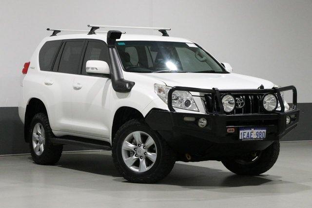 Used Toyota Landcruiser Prado KDJ150R 11 Upgrade GXL (4x4), 2012 Toyota Landcruiser Prado KDJ150R 11 Upgr GXL (4x4) White 5 Speed Sequential Auto Wagon