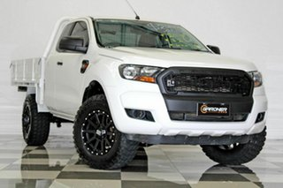 2015 Ford Ranger PX XL 3.2 (4x4) White 6 Speed Manual Super Cab Chassis.