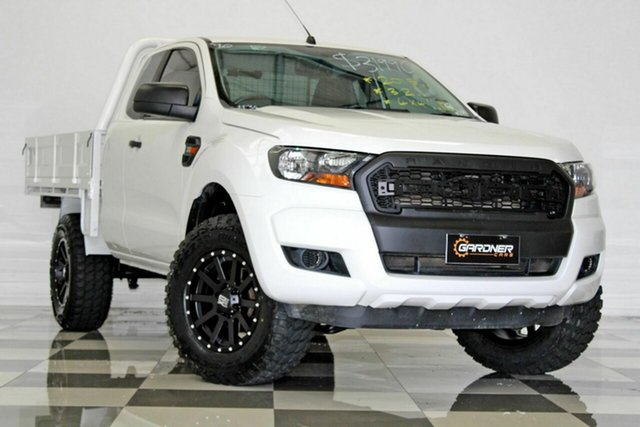 Used Ford Ranger PX XL 3.2 (4x4), 2015 Ford Ranger PX XL 3.2 (4x4) White 6 Speed Manual Super Cab Chassis