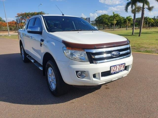 Used Ford Ranger PX XLT Double Cab 4x2 Hi-Rider, 2012 Ford Ranger PX XLT Double Cab 4x2 Hi-Rider White 6 Speed Sports Automatic Utility