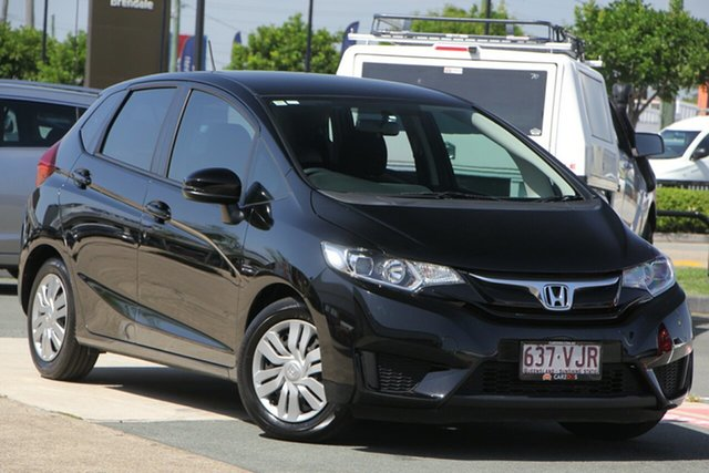 Used Honda Jazz GF MY15 VTi, 2014 Honda Jazz GF MY15 VTi Black 1 Speed Constant Variable Hatchback