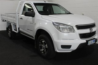2013 Holden Colorado RG MY13 DX Summit White 5 Speed Manual Cab Chassis.