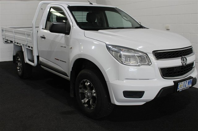 Used Holden Colorado RG MY13 DX, 2013 Holden Colorado RG MY13 DX Summit White 5 Speed Manual Cab Chassis