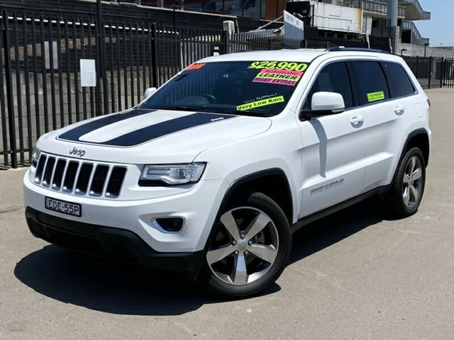 Used Jeep Grand Cherokee WK MY15 Laredo 4x2, 2014 Jeep Grand Cherokee WK MY15 Laredo 4x2 White 8 Speed Sports Automatic Wagon