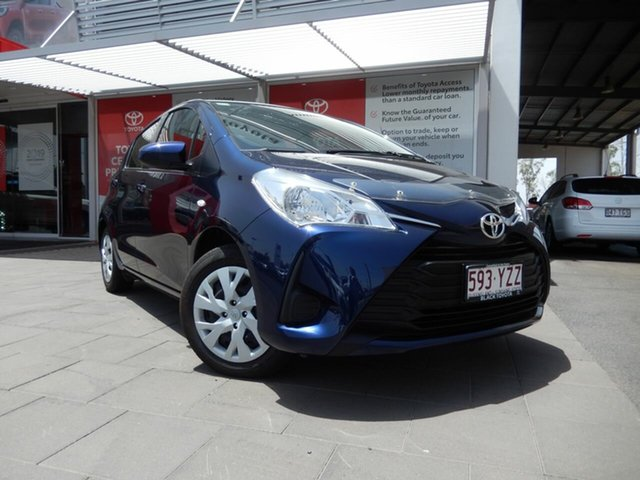 Demo Toyota Yaris NCP130R Ascent, 2019 Toyota Yaris NCP130R Ascent Dynamic Blue 4 Speed Automatic Hatchback