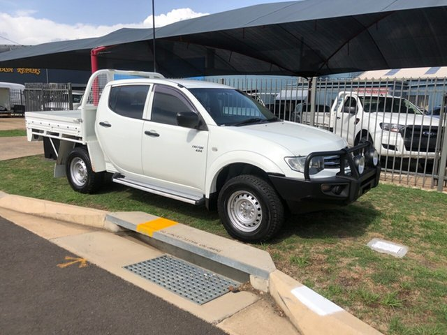 Used Mitsubishi Triton MN MY12 GLX (4x4), 2011 Mitsubishi Triton MN MY12 GLX (4x4) White 5 Speed Manual 4x4 Double Cab Utility