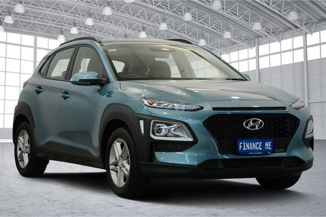 Used Hyundai Kona OS.2 MY19 Active 2WD, 2019 Hyundai Kona OS.2 MY19 Active 2WD Ceramic Blue 6 Speed Sports Automatic Wagon