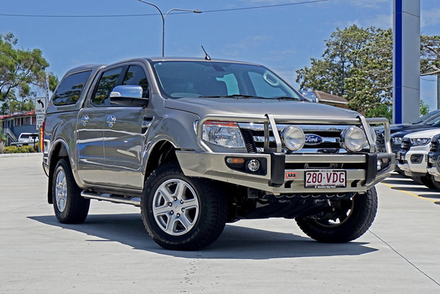 Used Ford Ranger PX XLT Double Cab, 2014 Ford Ranger PX XLT Double Cab Sparkling Gold 6 Speed Sports Automatic Utility