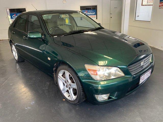 Used Lexus IS200 GXE10R Sports Luxury, 1999 Lexus IS200 GXE10R Sports Luxury Green 4 Speed Automatic Sedan