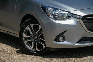 2015 Mazda 2 DJ2HA6 Genki SKYACTIV-MT Silver 6 Speed Manual Hatchback.