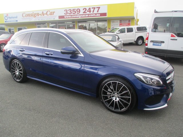 Used Mercedes-Benz C-Class S205 806+056MY C250 Estate 7G-Tronic +, 2016 Mercedes-Benz C-Class S205 806+056MY C250 Estate 7G-Tronic + Blue 7 Speed Sports Automatic