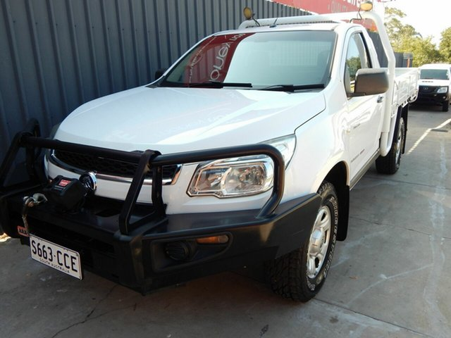 Used Holden Colorado RG MY14 DX, 2014 Holden Colorado RG MY14 DX White 6 Speed Manual Cab Chassis