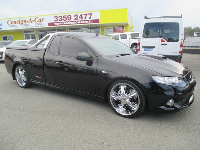 Used Ford Falcon FG XR8 Ute Super Cab, 2009 Ford Falcon FG XR8 Ute Super Cab Black 6 Speed Sports Automatic Utility