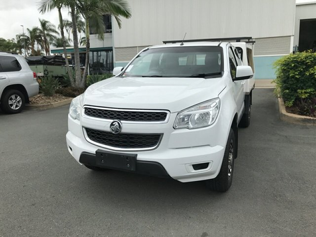 Used Holden Colorado RG MY15 LS Space Cab, 2015 Holden Colorado RG MY15 LS Space Cab White 6 speed Automatic Cab Chassis
