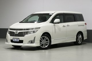 2010 Nissan Elgrand E51 Highway Star Pearl Black 5 Speed Automatic Wagon.