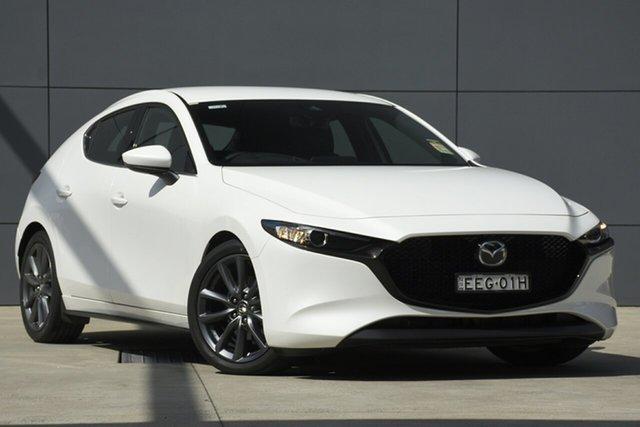 Demo Mazda 3 BN5436 SP25 SKYACTIV-MT GT, 2019 Mazda 3 BN5436 SP25 SKYACTIV-MT GT Snowflake White 6 Speed Manual Hatchback