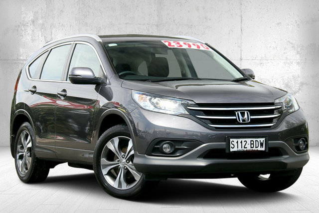 Used Honda CR-V RM MY15 VTi 4WD Plus, 2014 Honda CR-V RM MY15 VTi 4WD Plus Modern Steel 5 Speed Sports Automatic Wagon