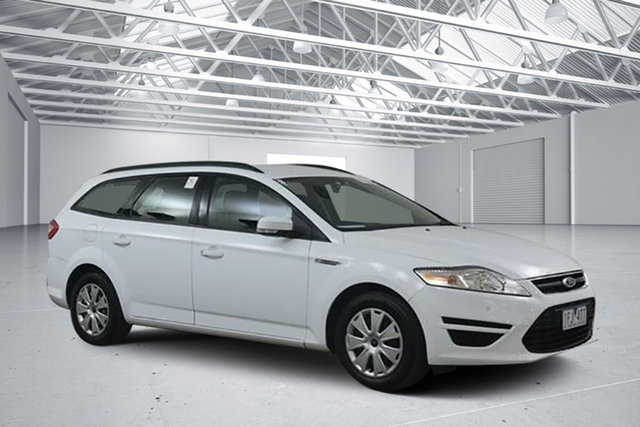 Used Ford Mondeo MC LX TDCi, 2014 Ford Mondeo MC LX TDCi Frozen White 6 Speed Direct Shift Wagon
