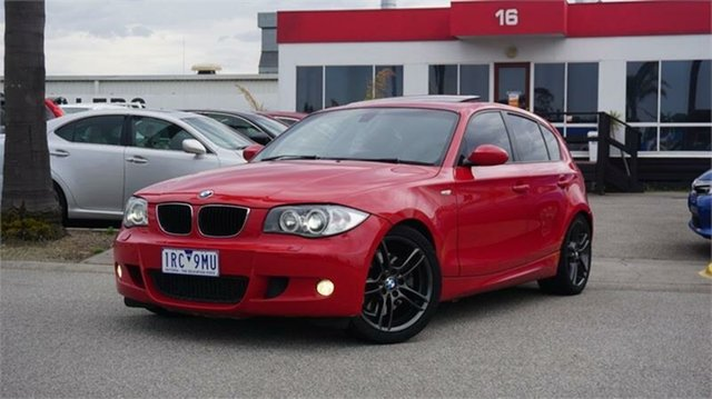 Used BMW 1 Series E87 130i Sport, 2006 BMW 1 Series E87 130i Sport Red 6 Speed Automatic Hatchback