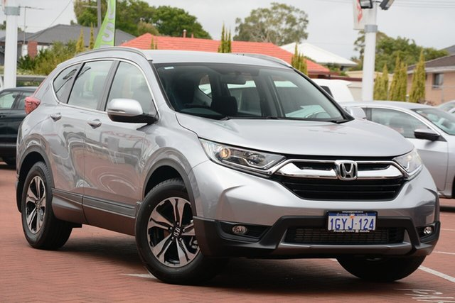 Demo Honda CR-V RW MY20 VTi FWD, 2019 Honda CR-V RW MY20 VTi FWD Lunar Silver 1 Speed Constant Variable Wagon