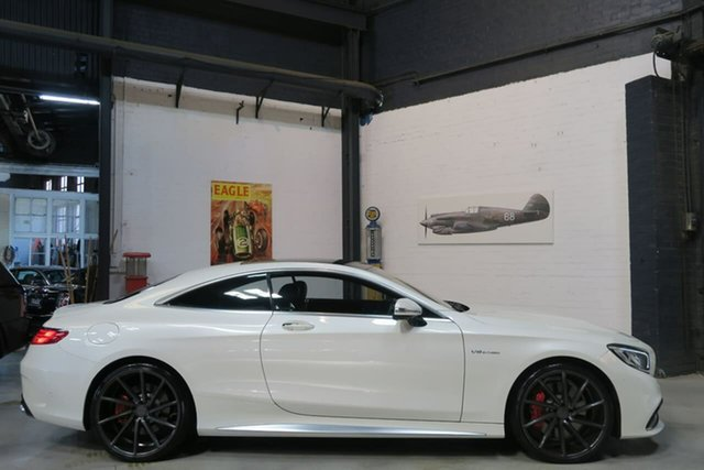 Used Mercedes-Benz S-Class C217 806MY S63 AMG SPEEDSHIFT MCT, 2015 Mercedes-Benz S-Class C217 806MY S63 AMG SPEEDSHIFT MCT White 7 Speed Sports Automatic Coupe