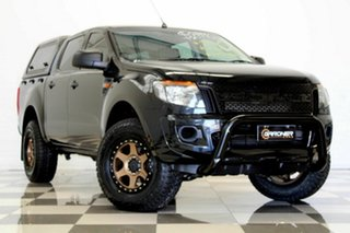2014 Ford Ranger PX XL 2.2 Hi-Rider (4x2) Black 6 Speed Automatic Crew Cab Pickup.
