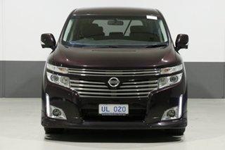 2010 Nissan Elgrand E51 Highway Star Purple 5 Speed Automatic Wagon.