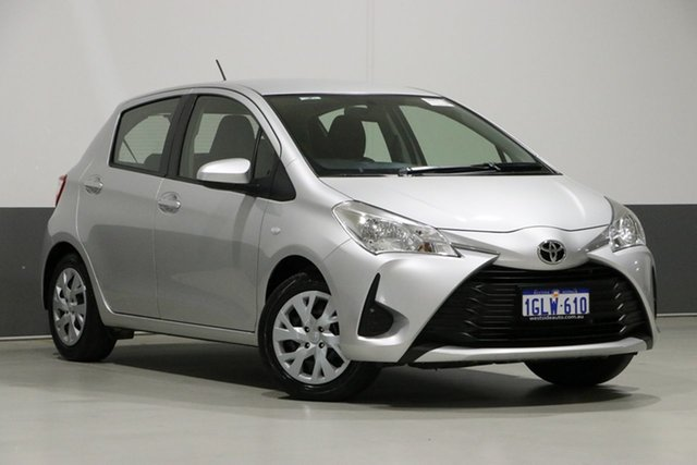 Used Toyota Yaris NCP130R MY17 Ascent, 2018 Toyota Yaris NCP130R MY17 Ascent Silver 4 Speed Automatic Hatchback