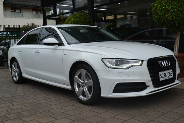 Used Audi A6 4G MY14 Multitronic, 2013 Audi A6 4G MY14 Multitronic White 1 Speed Constant Variable Sedan