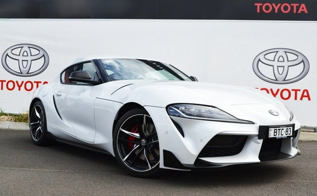Demo Toyota Supra J29 GR GTS, 2019 Toyota Supra J29 GR GTS Fuji White 8 Speed Sports Automatic Coupe