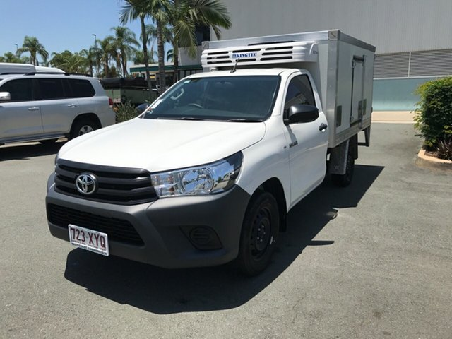 Used Toyota Hilux GUN122R Workmate 4x2, 2018 Toyota Hilux GUN122R Workmate 4x2 Glacier 5 speed Manual Cab Chassis