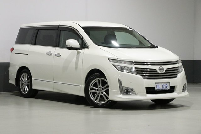 Used Nissan Elgrand E51 Highway Star, 2010 Nissan Elgrand E51 Highway Star Pearl Black 5 Speed Automatic Wagon