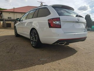 2019 Skoda Octavia NE MY19 RS DSG 245 Moon White 7 Speed Sports Automatic Dual Clutch Wagon