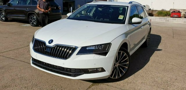 Demo Skoda Superb NP MY19 162TSI DSG, 2018 Skoda Superb NP MY19 162TSI DSG Moon White 6 Speed Sports Automatic Dual Clutch Wagon